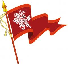 Lietuvos vėliava su Vyčiu