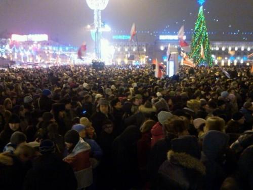 Mitingas Minske per rinkimus
