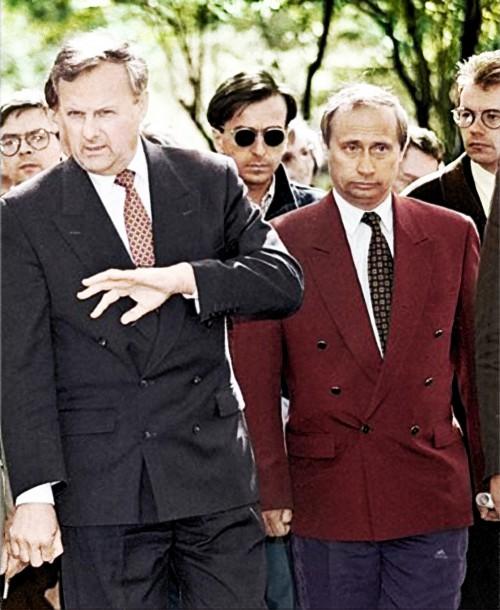 Anatolijus Sobčiakas ir Vladimiras Putinas