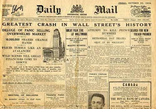 1929 griūtis tapo tuo įvykiu, kuris viską visiems pasakė