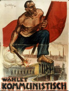 Austrija, 1920 metų komunistų rinkiminis plakatas