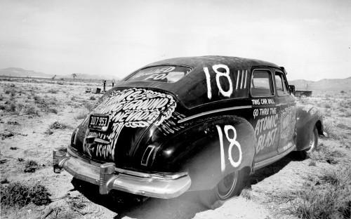 Automobilis paruoštas branduoliniams testams