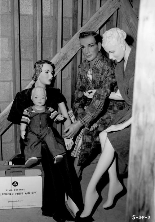 Dar viena manekenų šeima branduoliniams testams