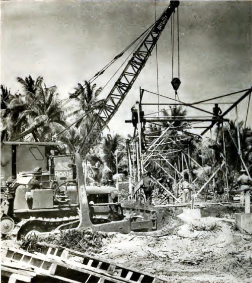 Instrumentų bokštų statyba atominiams bandymams