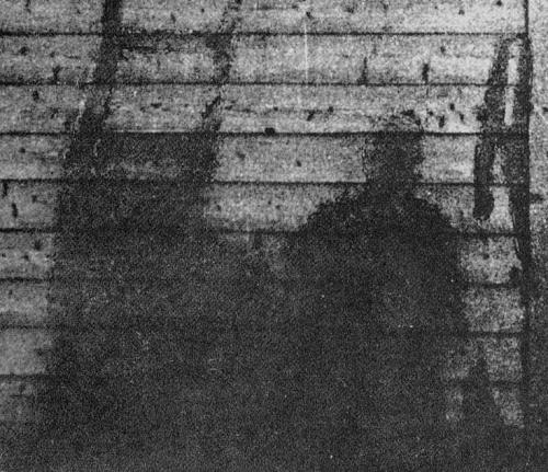 Šešėlis, likęs po sprogimo Hirosimoje