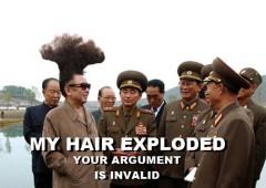 Mano plaukai yra atominis sprogimas, tavo argumentai blogi