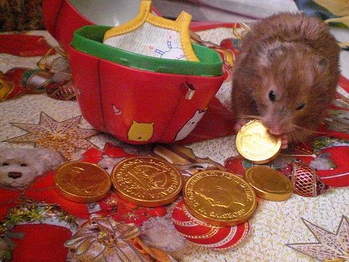 Kalėdinis Rokiškis Rabinovičius ėda pinigus, nes auksas ir babkės yra jo maistas