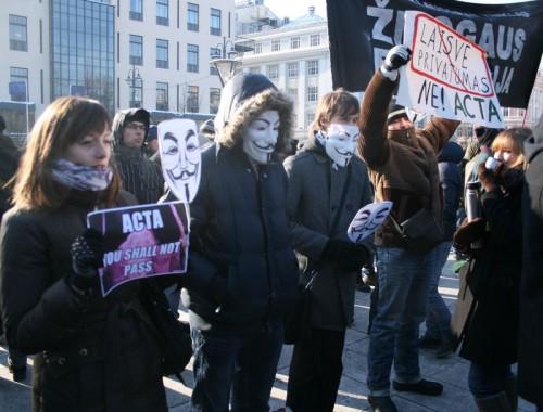 Protestas prieš ACTA, Vilnius, 2012 Vasario 11
