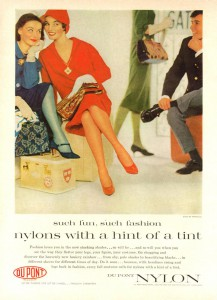 DuPont nailoninių pėdkelnių reklama