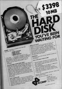 XCOMP firmos 10 megabaitų kietasis diskas