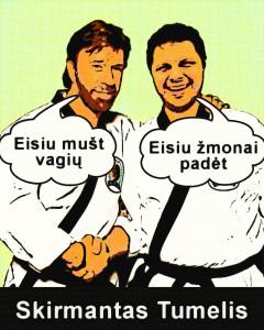 Skirmantas Tumelis ir Chuck Norris