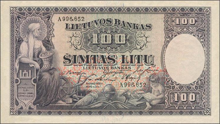 100 litų, 1928 laida