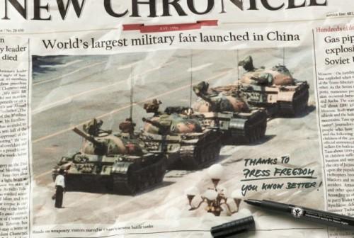 Žmogaus teisės Kinijoje yra saugomos, o spaudos laisvė - nevaržoma