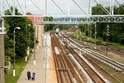 Kaišiadorių geležinkelio stotis, vaizdas nuo geležinkelio tilto