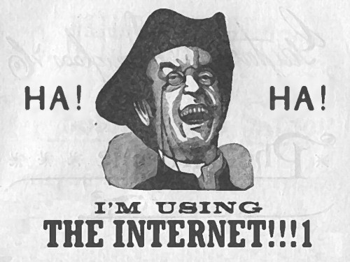 Ha! ha! I am using the internet!!!