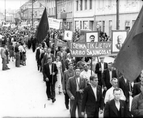 Režisuota demonstracija rinkimams į Liaudies Seimą, 1940 metai