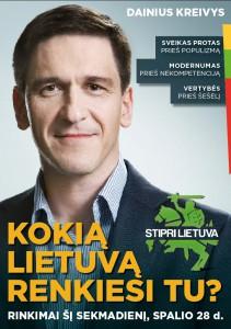 Dainius Kreivys, rinkimų plakatas