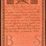 Tado Kosciukos banknotas, popierinis 1794 met pinigas, 100 zlot