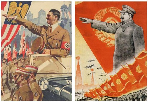 Josifas Stalinas ir Adolfas Hitleris, plakatai