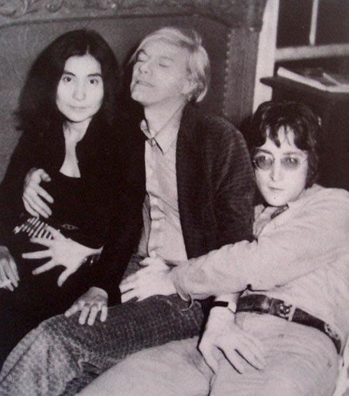 John Lennon, Yoko Ono ir Andy Warhol