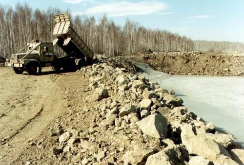 Karačiajaus ežeras, į kurį daugybę metų buvo pilamos radioaktyvios atliekos.