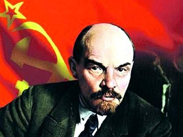 Leninas su raudona vėliava