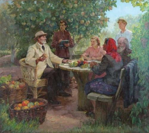 Kaip žinia, visa SSRS buvo labai dvasinga ir viskas buvo skirta žemės ūkiui. Taip pat ir GMO, kurio nebuvo, nes buvo Mičiurinas.