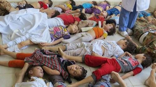 Įprastame kare cheminis ginklas nėra labai efektyvus, nes kariškiai gali apsisaugoti. Tačiau jis idealiai tinka masiniam civilių gyventojų naikinimui. Nuotraukoje - 2013 Rugpjūčio 21 dienos zarino atakų Sirijoje padariniai.