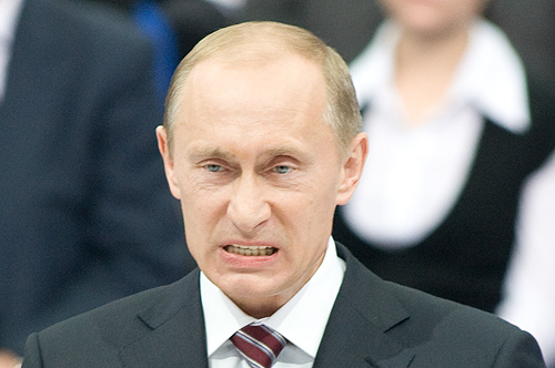 Vladimiras Putinas, 2008 metų nuotrauka. Tuo metu Rusija įsiveržė į Gruziją.