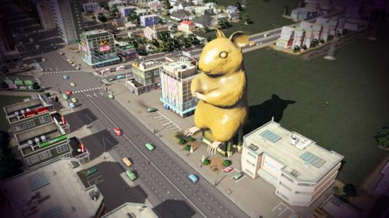 Vienas iš paminklo man projektų. Nuotraukoje matote, kad centrinė Rokiškio aikštė perstatyta, panaikinti nereikalingi pastatai, pagerintas miesto susisiekimas ir infrastruktūra.