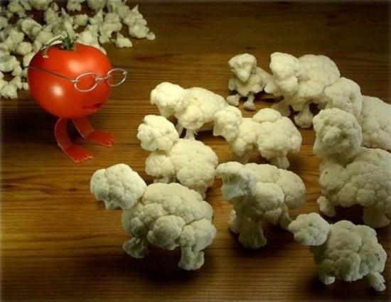 Kaip benorėtų kalafiorai priešintis, visvien jie eis pas poną Pomidorą, nes taip jau yra, tokia realybė.