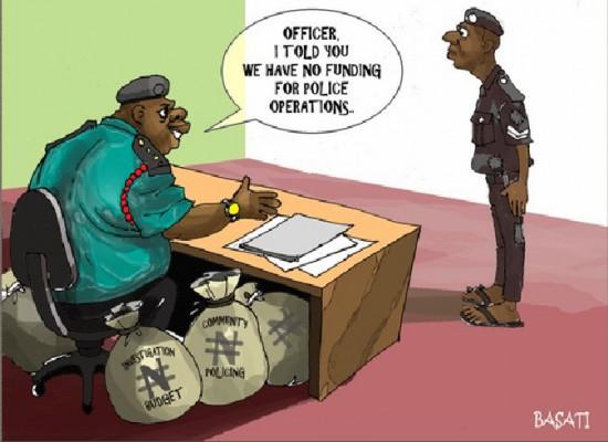 Karikatūra iš Nigerijos. Dar blogiau yra Zimbabvėje - ten net karikatūrų tokių nepiešia. Bendras dalykas, būdingas visoms skurdo valstybėms - kad visi slepia mokesčius, visi kyšininkauja, visi vagia valdiškus pinigus. Ir viskas atrodo nepataisoma. Bendras dalykas visoms gerovės valstybėms - visi moka mokesčius, niekas nekyšininkauja, pinigai yra naudojami tikslingai. Išties čia mums reikia rinktis, ko norėti.